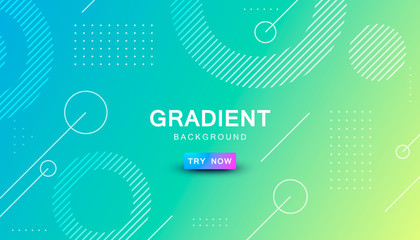 blue and yellow gradient geometric shape background