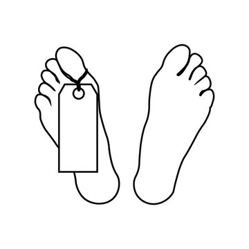 Element of crime and punishment icon for mobile concept and web apps. Thin line feet of corpse icon can be used for web and mobile
