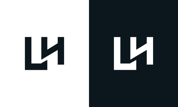 Modern abstract letter LH logo. This logo icon incorporate with two abstract shape in the creative process.