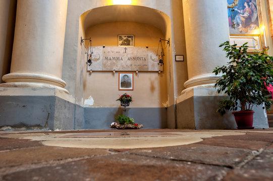 Sanctuary of Santa Maria Goretti in the village of corinaldo, marche, italy