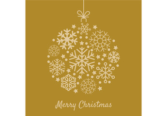 Decorative Digital Yellow Christmas Ornament Layout