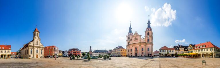 Fototapete - Panorama, Marktplatz, Ludwigsburg, Baden-Württemberg, Deutschland