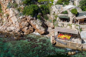 praia Suluci em Dubrovnik na Croácia