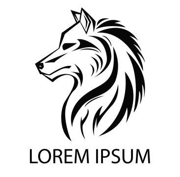 Illustration of Wolf icon logo