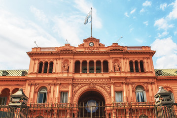 Foto op Plexiglas Buenos Aires Casa Rosada on Plaza de Mayo in Buenos aires.