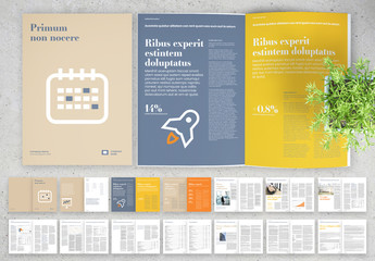 Minimalist Annual Report Layout