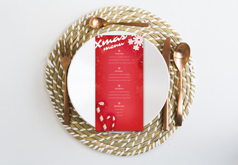 Red Christmas Menu Layout