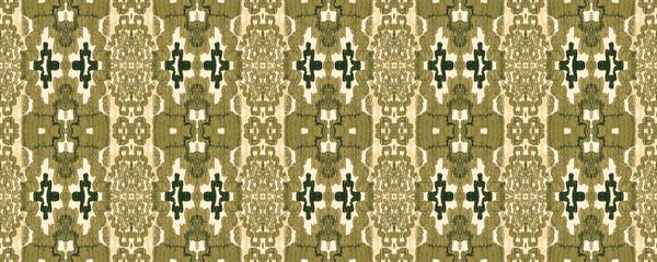 Ikat Seamless Pattern.