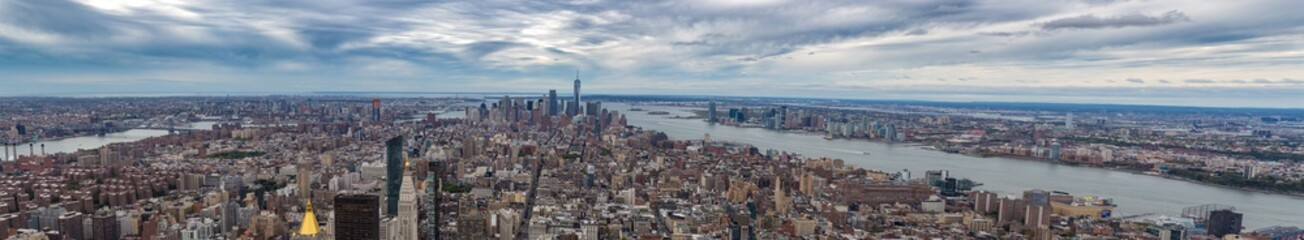 Foto op Canvas Manhattan Ultra Panorama