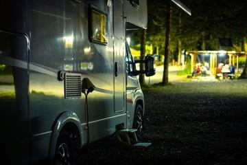 Wall Mural - RV Camping at Night
