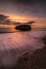 Aguilas Murcia beach of La Galera in Cabo Cope national park at Mediterranean sea of Spain