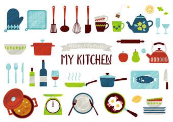 Lamas personalizadas para cocina con tu foto キッチンツール イラストセット