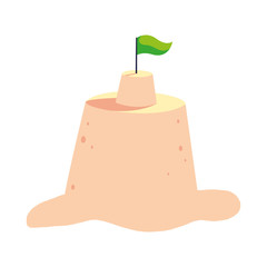 Isolated sand castle vector design