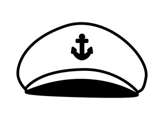 Isolated captain hat vector design