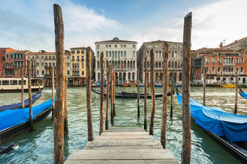 Photo sur Aluminium Venise Beautiful scenery of the grand Canal in Venice, Italy