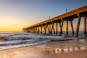 Johnnie Mercers Fishing Pier at sunrise in Wrightsville Beach east of Wilmington,North Carolina,United State. Wall mural