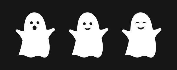 Three cute ghosts.