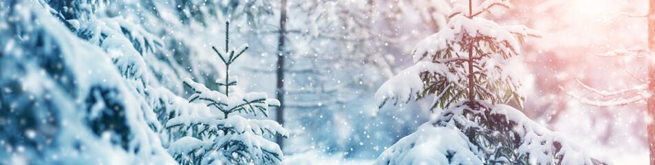 Foto op Canvas Bomen Beautiful tree in winter landscape in the morning