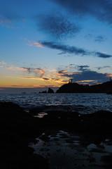 Sunset from Punta Baja in Almeria, Spain