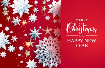 Fotomurales - Christmas design on bright background