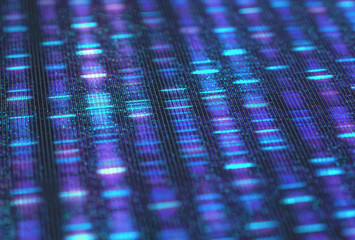 DNA Sequencing Sanger Digital Background Binary Code