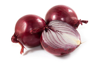 Isolated image of onion closeup