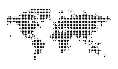 Political Dotted World Map Vector isolated Illustration