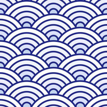 Japanese seigaiha seamless pattern