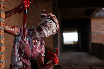 Zombie woman,horror shot the scary