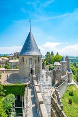 Medieval castle of Carcassonne, Languedoc - Roussillon province, France