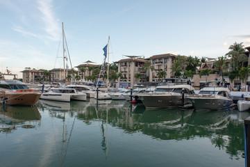 Fotobehang Poort Yachts parking in harbor