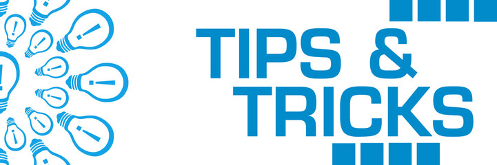Tips And Tricks Blue Bulbs Circular Horizontal