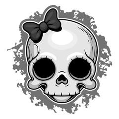 Cute skull portrait
