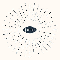 Grey American Football ball icon isolated on beige background. Abstract circle random dots. Vector Illustration