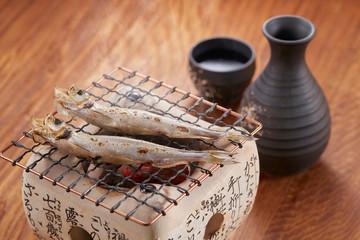 軽く火で炙った一夜干しのししゃもは、日本酒との相性抜群です