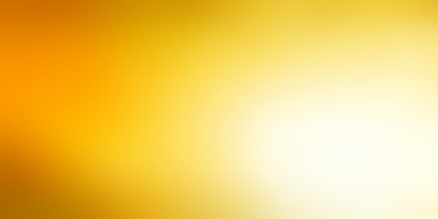 Light yellow empty banner. Gold glow defocused background. Sunny abstract illustration. Juicy blurred texture.
