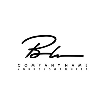 BH initials signature logo. Handwriting logo vector templates. Logo for business, beauty, fashion, signature