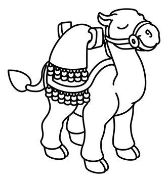 A camel cute animal cartoon character illustration