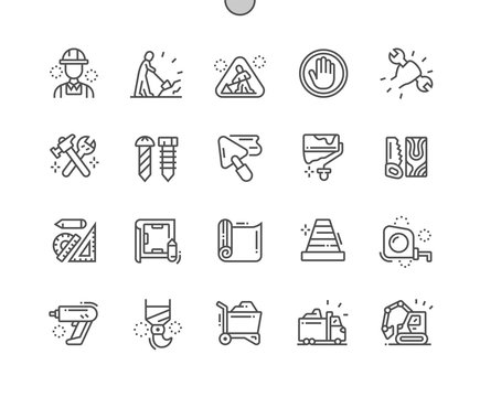 Repair work Well-crafted Pixel Perfect Vector Thin Line Icons 30 2x Grid for Web Graphics and Apps. Simple Minimal Pictogram