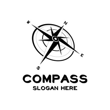 compass map adventure design logo vector