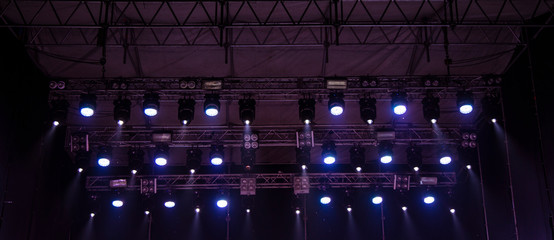 music stage roof projector panel with lamp illumination technology background picture
