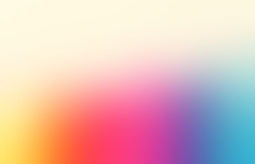 Spectrum blurred texture. Rainbow empty background. Colored simple defocused abstract illustration. Blue pink red yellow gradient pattern.
