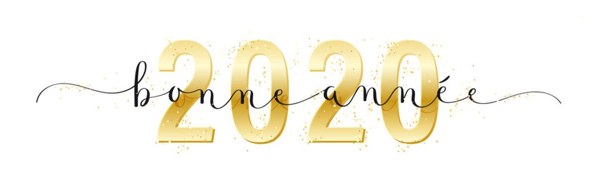 Calligraphie vecteur BONNE ANNEE 2020