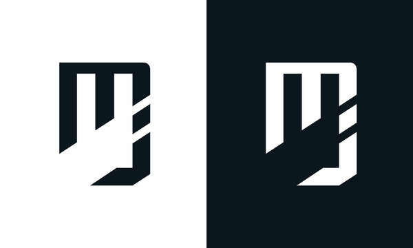Abstract letter MJ logo. This logo icon incorporate with two abstract shape in the creative process.