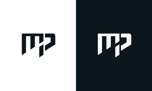 Abstract letter MP logo. This logo icon incorporate with two abstract shape in the creative process.