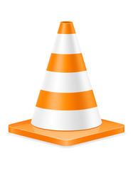 plastic traffic cone to limit traffic transport stock vector illustration