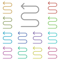 arrow zig zag icon. Simple thin line, outline vector element of Arrow icons set for UI and UX, website or mobile application on white background