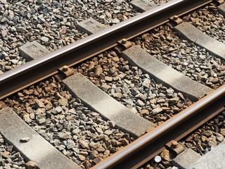 線路のクローズアップ