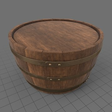 Wooden barrel table