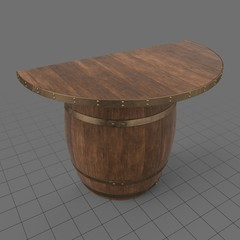 Wooden barrel console table